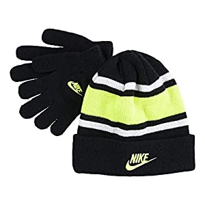 Nike Boy`s Futura Foldover Beanie & Glove 2 Piece Set