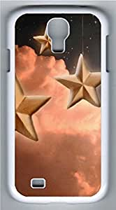 Samsung Galaxy S4 I9500 White Hard Case - Metal Texture Of The Stars Galaxy S4 Cases