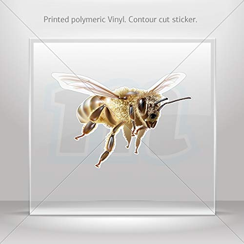 Bees & Hornets Various sizes Sticker Flying Bee Decor Motorbike Bicycle Vehicle ATV car Laptop Raci (5 X 3.42 Inches) ()