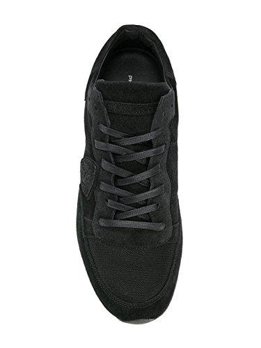 Philippe Model Hombre TRLUDS05 Negro Cuero Zapatillas