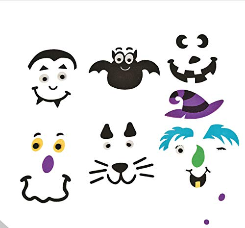 Foam Pumpkin Decorating Kits - Set of 24 Halloween Crafts for Kids by 18th Street Party Supplies (Image #2)