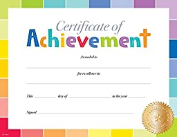 Creative Teaching Press Painted Palette Certificate of Achievement Large Award (0673)