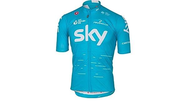 Amazon.com   Castelli Team Sky Podio Jersey XX-Large Sky Blue   Sports    Outdoors bdf125a75