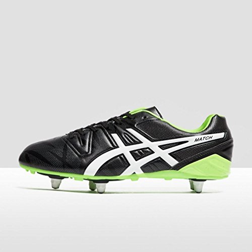 Match ST Rugby Boots - Black/Flash Green Negro/Verde
