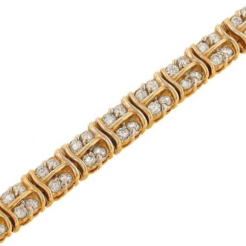 Round prong Set Diamond Tennis Bracelet Diamond 4.00ct