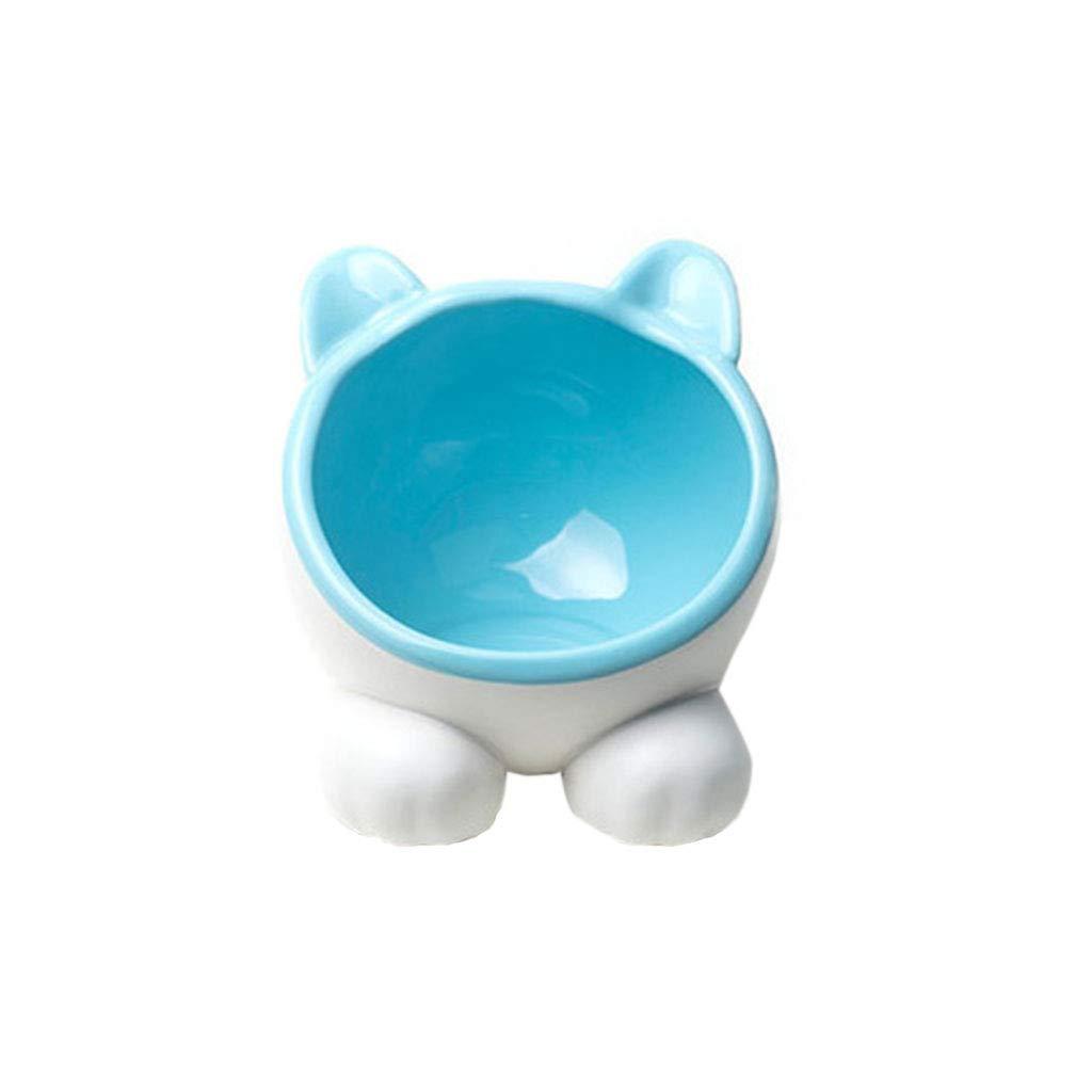 3 Cat Bowl Ceramic pet Garfield Rice Bowl Double Bowl Dog Food Bowl Oblique Mouth cat Water Bowl cat Basin Food Bowl (color    3)