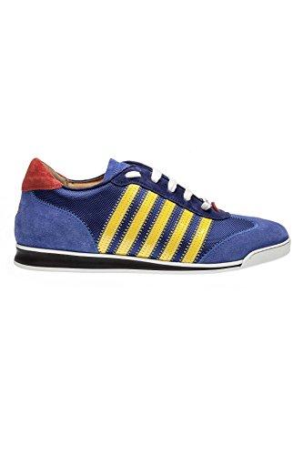 Dsquared Men Shoes Sneaker Nieuwe Runner W17sn419 839, Kleur: Blauw, Afmetingen: 44