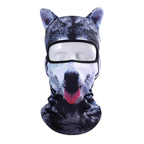 DeemoShop 3D Animal Ear Balaclava Outdoor Full Face