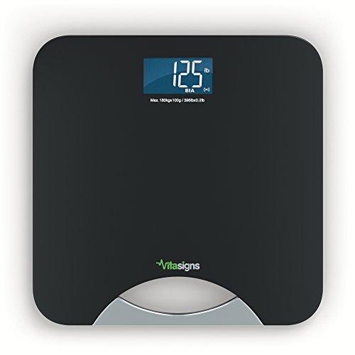 vitasigns vs41133–0200–Báscula de baño inteligente Bluetooth, Negro