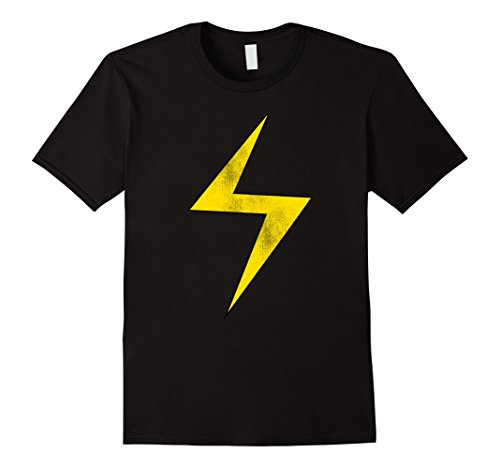 Men's Marvel Lightning Bolt Ms. Marvel Graphic T-Shirt Medium Black