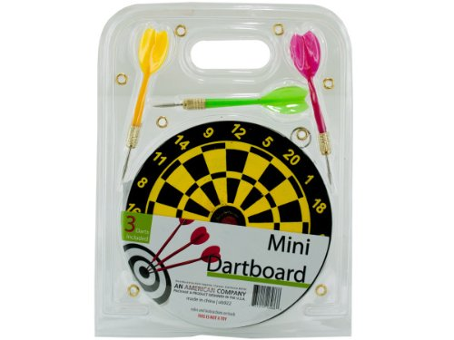 bulk buys OB922 Mini Dartboard Set, Black, Yellow, Green, Red, Gold