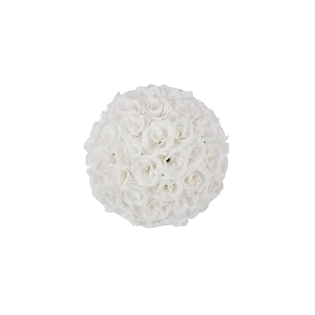2-Pack-Romantic-Rose-Pomander-Flower-Balls-Rose-Bridal-for-Wedding-Bouquets-Artificial-Flower-DIY-White-By-Ben-Collection