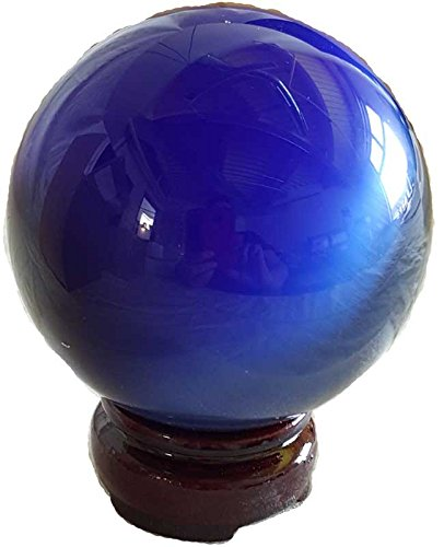 Fortune Telling Toys Crystal Balls Divination Tool See The Future 75mm Blue Cats Eye by AzureGreen