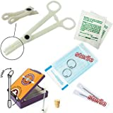 9-piece ear piercing starter kit, 16 gauge