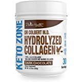 Dr. Colbert's Divine Health Keto Zone Hydrolyzed Type I, II & III Chicken + Marine Collagen Powder (Dark Chocolate) Non-GMO, Gluten Free, Supports Healthy Skin and Joints formulated by Dr. Don Colbert