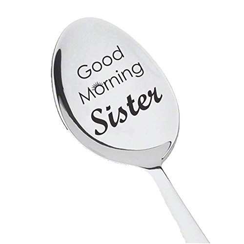 Good Morning Sister Spoon Engrave For Gift In Law