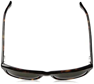 Cole Haan Men's Ch6009 Plastic Square Sunglasses, Dark Tortoise, 55 mm