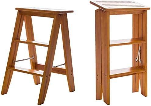 Pasos Taburete Taburete plegable Taburete Trona Escalera de madera Escalera Estantería Escalera de tijera Escalera de doble uso Plegable Ampliado Seguridad multifuncional Hogar Cocina Rack de zapatos de interior: Amazon.es: Hogar