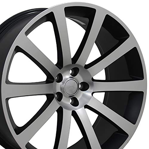 OE Wheels 22 Inch Fits Chrysler 300 Challenger SRT8 Charger SRT8 Magnum 300 SRT Style CL02 22x9 Rims Satin Black Machined SET