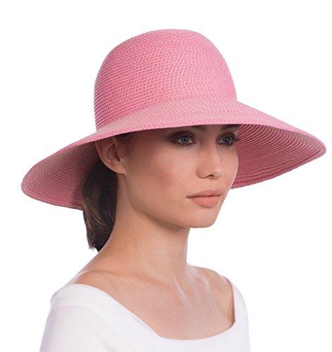 Eric Javits Luxury Fashion Designer Women's Headwear Hat - Hampton - Pop Pink by Eric Javits