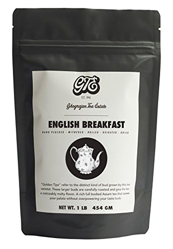 English Breakfast Loose Leaf Black Tea (200+ Servings) - 2019 Harvest - Strong Full Bodied Whole Leaf Assam Black Tea - Farm2Cup from 5th Generation Tea Farm - Bulk Pack - 1 Pound Sealable Pouch ()