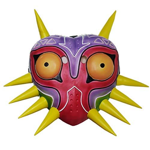 Majora Mask, Zelda Colorful Latex Mask For Men Boys Halloween Costume ()