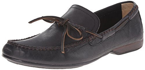 Frye Mens Lewis Tie-on Mocassino In Pelle Vintage Nera Morbida