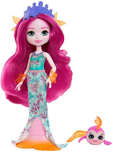 Royal Enchantimals Muñeca Sirena con pez mascota de juguete (Mattel GYJ02)