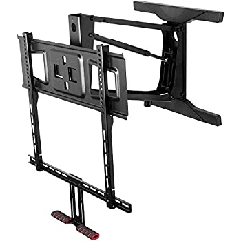 Mount it fireplace tv mount full motion pull - Pull down tv mount ...