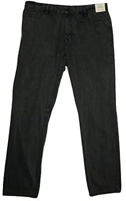 Calvin Klein Jeans Men's Slim Straight Leg Graphite Indigo Wash Jeans, 36X32