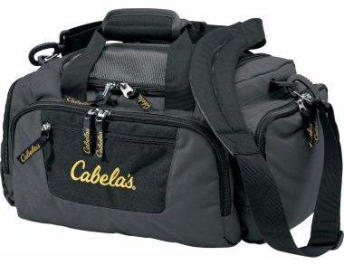 Cabelas Gray Black Catch All Gear Bag