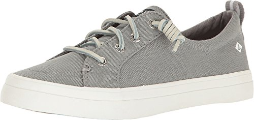 Sperry Top-Sider Women's CREST VIBE LINEN Shoe, grey, 9 M US