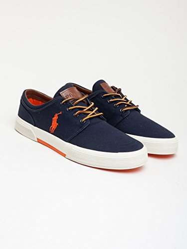 Polo Ralph Lauren - Zapatillas de skateboarding para hombre NAVY ORANGE