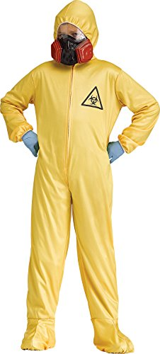 Hazmat Suit Hooded Jumpsuit Child Fancy Dress Halloween Costume, Child M (8-10) Yellow]()