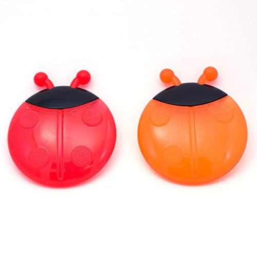 Water Teethers Sassy Filled (Sassy Ladybug Teethers Developmental Toy, 2 Pack, Colors May Vary)