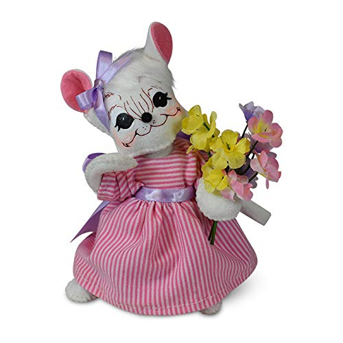 Annalee 6in Spring Girl Mouse