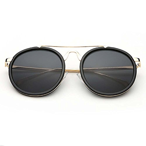 A-Royal 2016 New Korean Style Round Retro Reflective Lens Metal Frame Sunglasses(C1) (Sonnenbrille Iron Man)