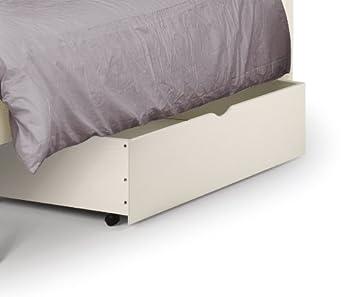 Julian Bowen WB10103 - Cajón con ruedas para cama, color blanco: Amazon.es: Hogar