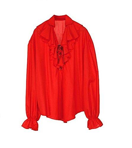 Widmann WDM4183D - Costume Per Adulti Camicia Pirata Rinascimento ... 3817a55267c