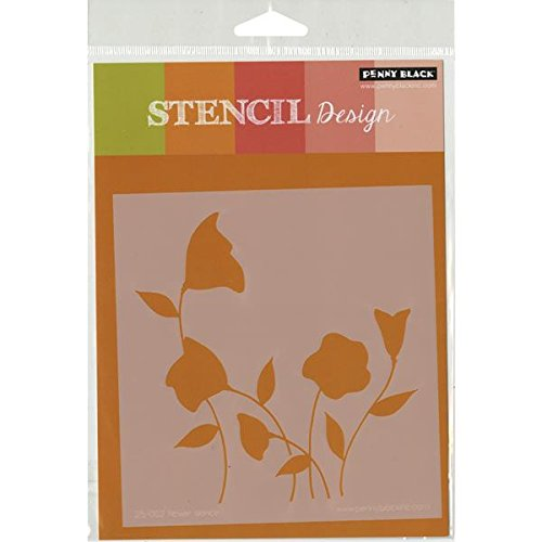 Penny Black Flower Dance Scrapbooking Stencil by Penny Black