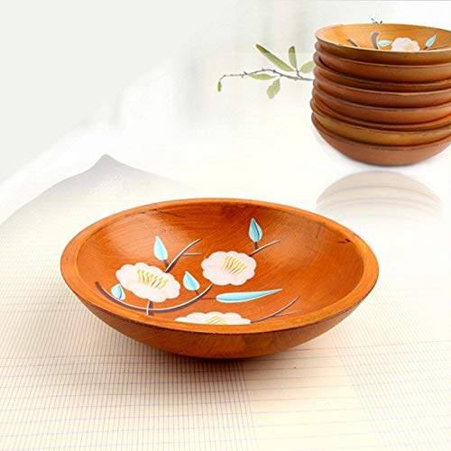 KathShop Innovative Pastoral Style Melons & Fruits Dish Hand-Painted Candies Melon Seeds Tray Home Desktop Storage Plate