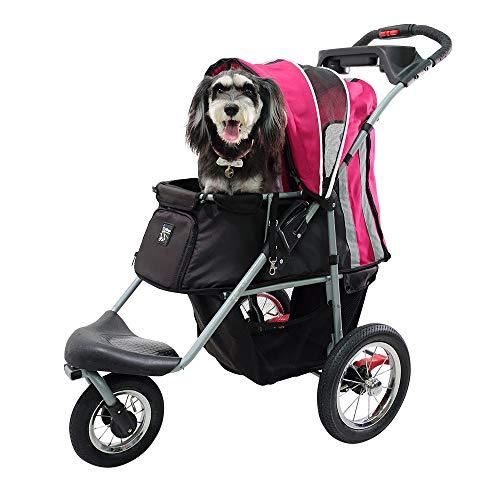 ibiyaya Sturdy Dog Stroller, Cat Stroller for Heavy Everyday Use, Air Filled Tires with Suspensions from ibiyaya