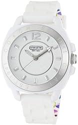 Coach Womens 14501352 Boyfriend White Silicone Watch