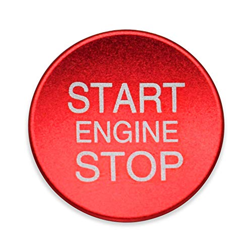 Ceyes Car Engine Start Stop Push Button Cover Auto Ignition Start Button Cover Auto Switch Button Cover Ignition Key Cover Sticker for Alfa Romeo Giulietta Stelvio Mito 147 156 159 166 - Red