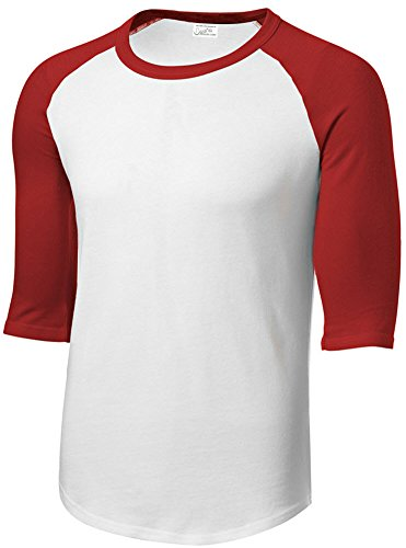 Joe's USA Mens 3/4 Sleeve 100% Cotton Baseball Tee Shirt,M ()