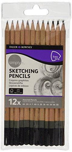 - Daler Rowney Simply 12 Sketching Pencils