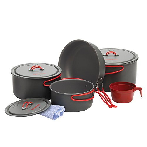 Aluminum Cookset - Coghlan's Anodized Aluminum Camping Cook Set, 10-Piece