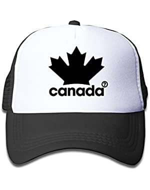 Causal Canada - Maple Leaf Children Kids Nylon Adjustable Sport Hat One Size Fits Most