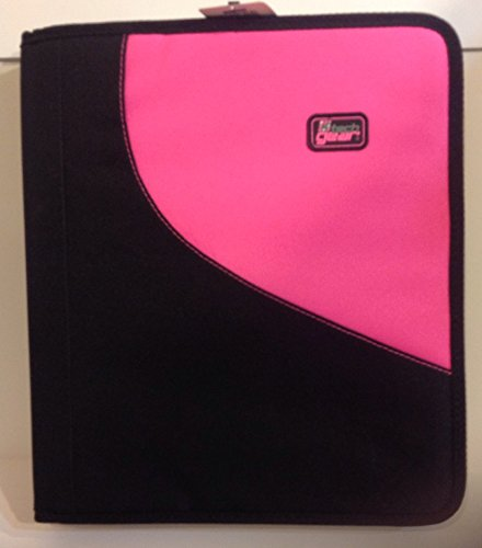 Tech Gear Zipper Binder Pink and Black 1.5 Inch Ring
