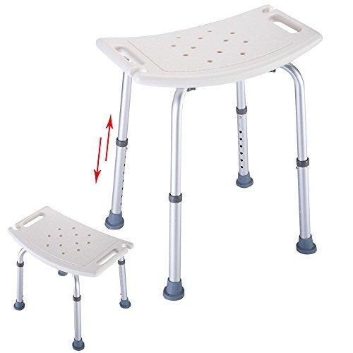 Adjustable Bath Tub Shower Chair 7 Height Bench Stool (Drain Flange Apron)